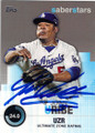 JUAN URIBE LOS ANGELES DODGERS AUTOGRAPHED BASEBALL CARD #42315C