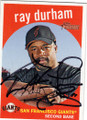 RAY DURHAM SAN FRANCISCO GIANTS AUTOGRAPHED BASEBALL CARD #42315D