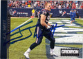 JJ WATT HOUSTON TEXANS AUTOGRAPHED FOOTBALL CARD #42315E