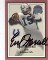 EARL MORRALL BALTIMORE COLTS AUTOGRAPHED FOOTBALL CARD #42715C