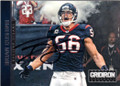 BRIAN CUSHING HOUSTON TEXANS AUTOGRAPHED FOOTBALL CARD #42715F