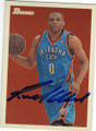 RUSSELL WESTBROOK OKLAHOMA CITY THUNDER AUTOGRAPHED BASKETBALL CARD #42715H