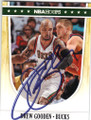 DREW GOODEN MILWAUKEE BUCKS AUTOGRAPHED BASKETBALL CARD #42815N