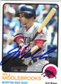 WILL MIDDLEBROOKS BOSTON RED SOX AUTOGRAPHED BASEBALL CARD #42915A