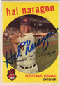 HAL NARAGON CLEVELAND INDIANS AUTOGRAPHED VINTAGE BASEBALL CARD #42915D