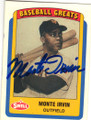 MONTE IRVIN NEW YORK GIANTS AUTOGRAPHED BASEBALL CARD #43015A