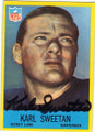 KARL SWEETAN DETROIT LIONS AUTOGRAPHED VINTAGE ROOKIE FOOTBALL CARD #50515A