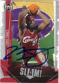 LeBRON JAMES CLEVALAND CAVALIERS AUTOGRAPHED BASKETBALL CARD #51115D