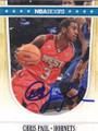 CHRIS PAUL NEW ORLEANS HORNETS AUTOGRAPHED BASKETBALL CARD #51115H