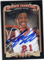 DOMINIQUE WILKINS UNIVERSITY OF GEORGIA AUTOGRAPHED BASKETBALL CARD #52015A