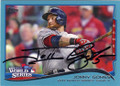 JONNY GOMES BOSTON RED SOX AUTOGRAPHED BASEBALL CARD #52115A