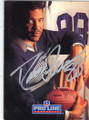 DREW PEARSON DALLAS COWBOYS AUTOGRAPHED FOOTBALL CARD #52115B