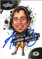 AARON RODGERS GREEN BAY PACLERS AUTOGRAPHED FOOTBALL CARD #52915A