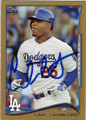 CARL CRAWFORD LOS ANGELES DODGERS AUTOGRAPHED & NUMBERED BASEBALL CARD #52915E