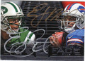GENO SMITH & EJ MANUEL NEW YORK JETS AND BUFFALO BILLS DOUBLE AUTOGRAPHED FOOTBALL CARD #53015G