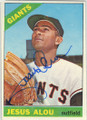 JESUS ALOU SAN FRANCISCO GIANTS AUTOGRAPHED VINTAGE BASEBALL CARD #53115F