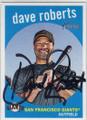 DAVE ROBERTS SAN FRANCISCO GIANTS AUTOGRAPHED BASEBALL CARD #60115E