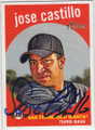 JOSE CASTILLO SAN FRANCISCO GIANTS AUTOGRAPHED BASEBALL CARD #60115H