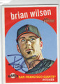 BRIAN WILSON SAN FRANCISCO GIANTS AUTOGRAPHED BASEBALL CARD #60215A