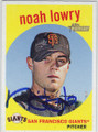 NOAH LOWRY SAN FRANCISCO GIANTS AUTOGRAPHED BASEBALL CARD #60315G