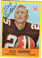 ALEX HAWKINS ATLANTA FALCONS AUTOGRAPHED VINTAGE FOOTBALL CARD #60315i