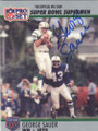 GEORGE SAUER NEW YORK JETS AUTOGRAPHED FOOTBALL CARD #60815C
