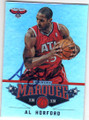 AL HORFORD ATLANTA HAWKS AUTOGRAPHED BASKETBALL CARD #60915A