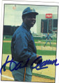 HANK AARON MILWAUKEE BREWERS AUTOGRAPHED VINTAGE BASEBALL CARD #60915B
