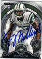 DEE MILLINER NEW YORK JETS AUTOGRAPHED ROOKIE FOOTBALL CARD #60915C