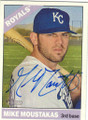 MIKE MOUSTAKAS KANSAS CITY ROYALS AUTOGRAPHED BASEBALL CARD #60915i