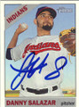 DANNY SALAZAR CLEVELAND INDIANS AUTOGRAPHED BASEBALL CARD #61015E