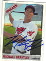 MICHAEL BRANTLEY CLEVELAND INDIANS AUTOGRAPHED BASEBALL CARD #61315J