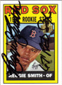 REGGIE SMITH BOSTON RED SOX AUTOGRAPHED BASEBALL CARD #61715i