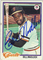 BILL MADLOCK SAN FRANCISCO GIANTS AUTOGRAPHED VINTAGE BASEBALL CARD #62115B