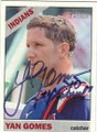 YAN GOMES CLEVELAND INDIANS AUTOGRAPHED BASEBALL CARD #62315E