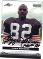 OZZIE NEWSOME CLEVELAND BROWNS AUTOGRAPHED FOOTBALL CARD #62315F