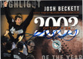 JOSH BECKETT FLORIDA MARLINS AUTOGRAPHED BASEBALL CARD #62315H