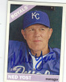 NED YOST KANSAS CITY ROYALS AUTOGRAPHED BASEBALL CARD #62415B