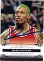 DENNIS RODMAN CHICAGO BULLS AUTOGRAPHED BASKETBALL CARD #62415F