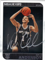KYLE ANDERSON SAN ANTONIO SPURS AUTOGRAPHED ROOKIE BASKETBALL CARD #62415H
