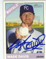 WADE DAVIS KANSAS CITY ROYALS AUTOGRAPHED BASEBALL CARD #62615A