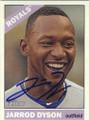 JARROD DYSON KANSAS CITY ROYALS AUTOGRAPHED BASEBALL CARD #62615E