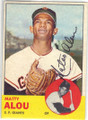 MATTY ALOU SAN FRANCISCO GIANTS AUTOGRAPHED VINTAGE BASEBALL CARD #70115B