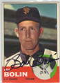 BOB BOLIN SAN FRANCISCO GIANTS AUTOGRAPHED VINTAGE BASEBALL CARD #70115D