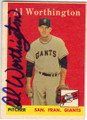 AL WORTHINGTON SAN FRANCISCO GIANTS AUTOGRAPHED VINTAGE BASEBALL CARD #70115F