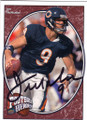 JIM McMAHON CHICAGO BEARS AUTOGRAPHED FOOTBALL CARD #70315A