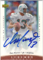 DAN MARINO MIAMI DOLPHINS AUTOGRAPHED FOOTBALL CARD #70315F