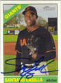 SANTIAGO CASILLA SAN FRANCISCO GIANTS AUTOGRAPHED BASEBALL CARD #70715G