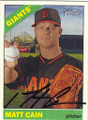 MATT CAIN SAN FRANCISCO GIANTS AUTOGRAPHED BASEBALL CARD #70715H