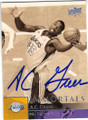 AC GREEN LOS ANGELES LAKERS AUTOGRAPHED BASKETBALL CARD #70815A